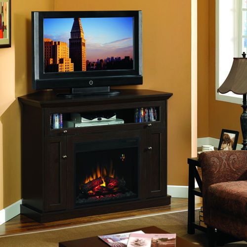 Windsor Electric Fireplace and Media Console   Media electric fireplace, Electric fireplace ...