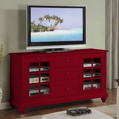 Red Furntiture Tv Stands | Cheap Riverside Furniture Splash Of Color 60u2033 TV  Stand In