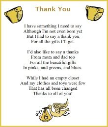 Thank You Notes Girl Baby Shower  Want To Make Your Baby Shower