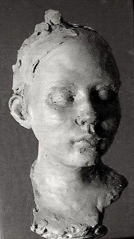 sculpture portrait - stoneware - by Josefin Johansson