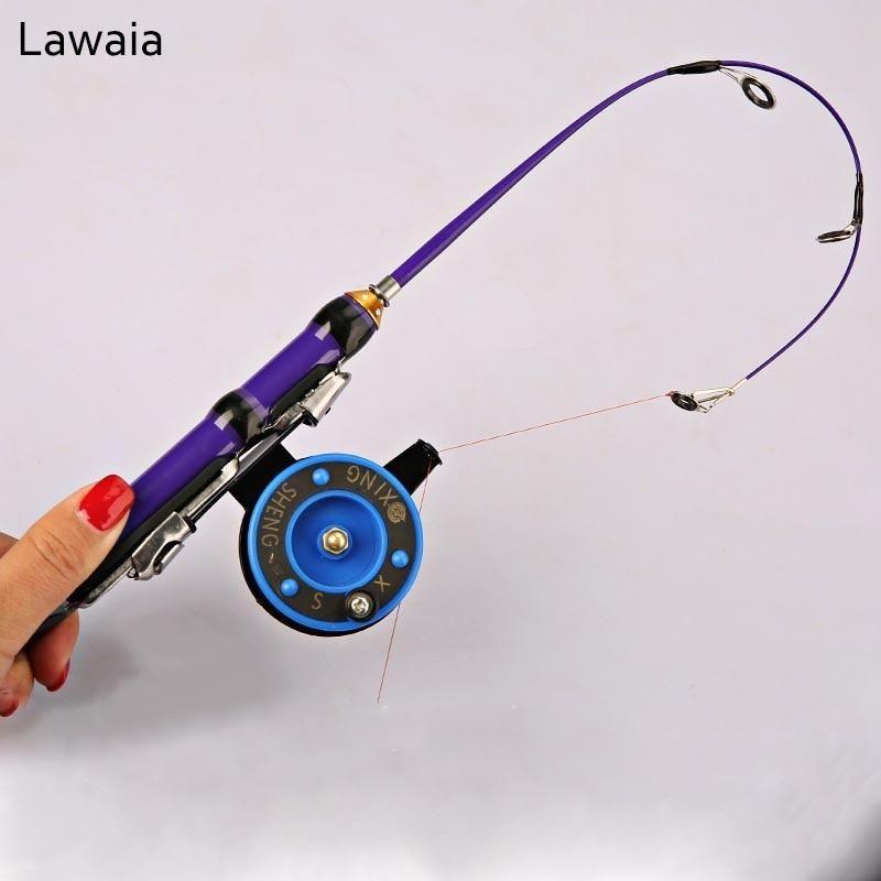 Portable Winter fishing Rod Ultra Short Throw Fish Pole Hard Sea Raft Tackl li
