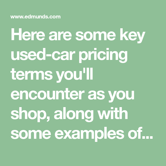 Asking Trade In Wholesale Pricing Basics For Used Car Buying