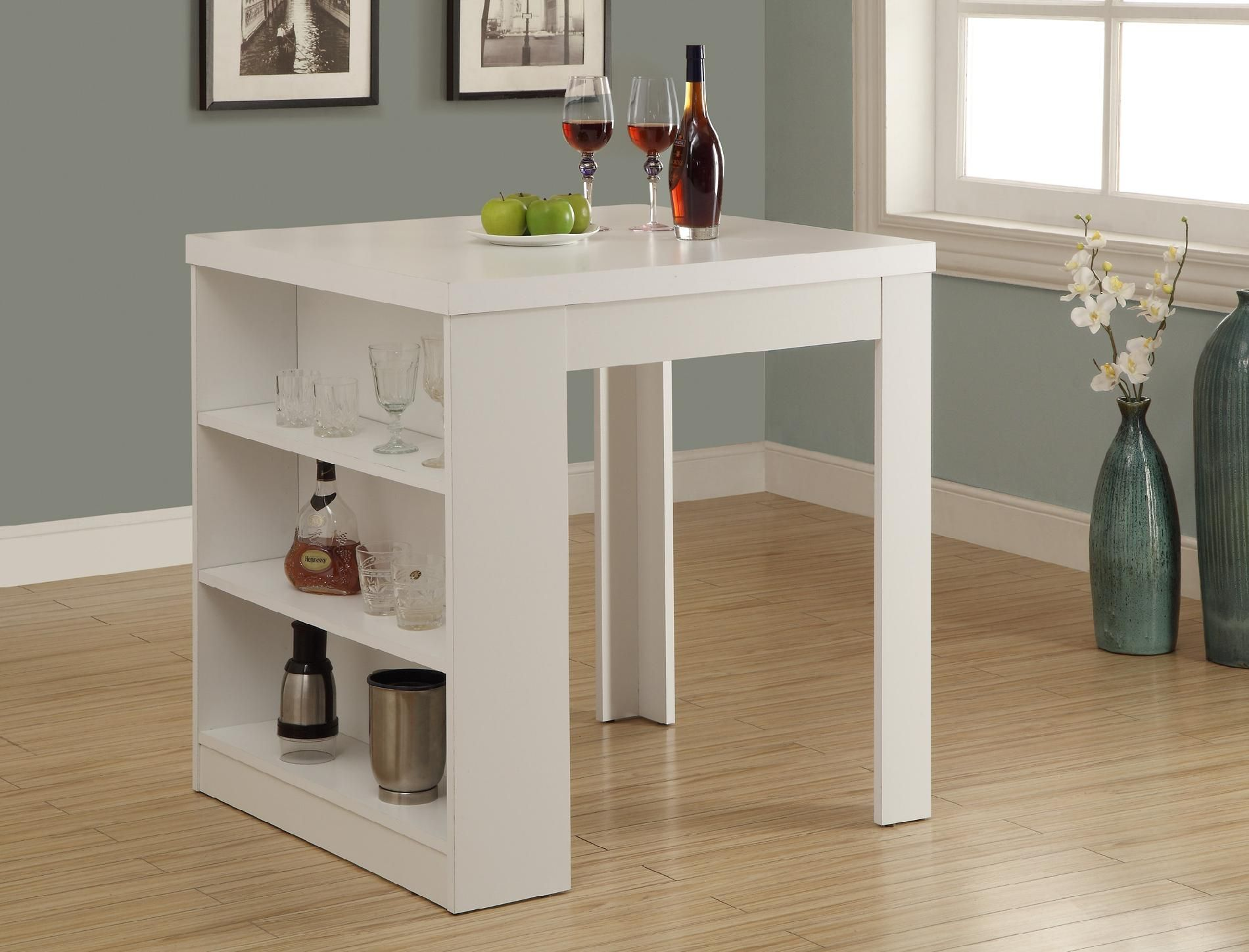 kitchen table storage black round set monarch specialties dining 32 x 36 white counter height