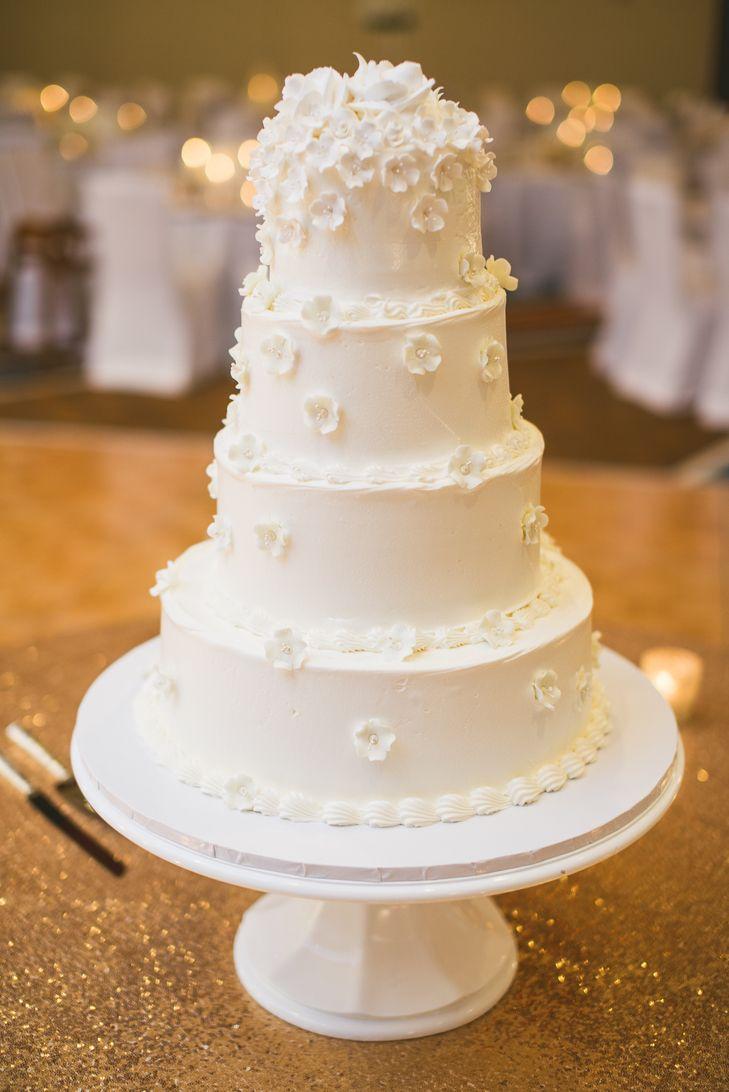 Four tier white wedding cake wedding cakes pinterest white