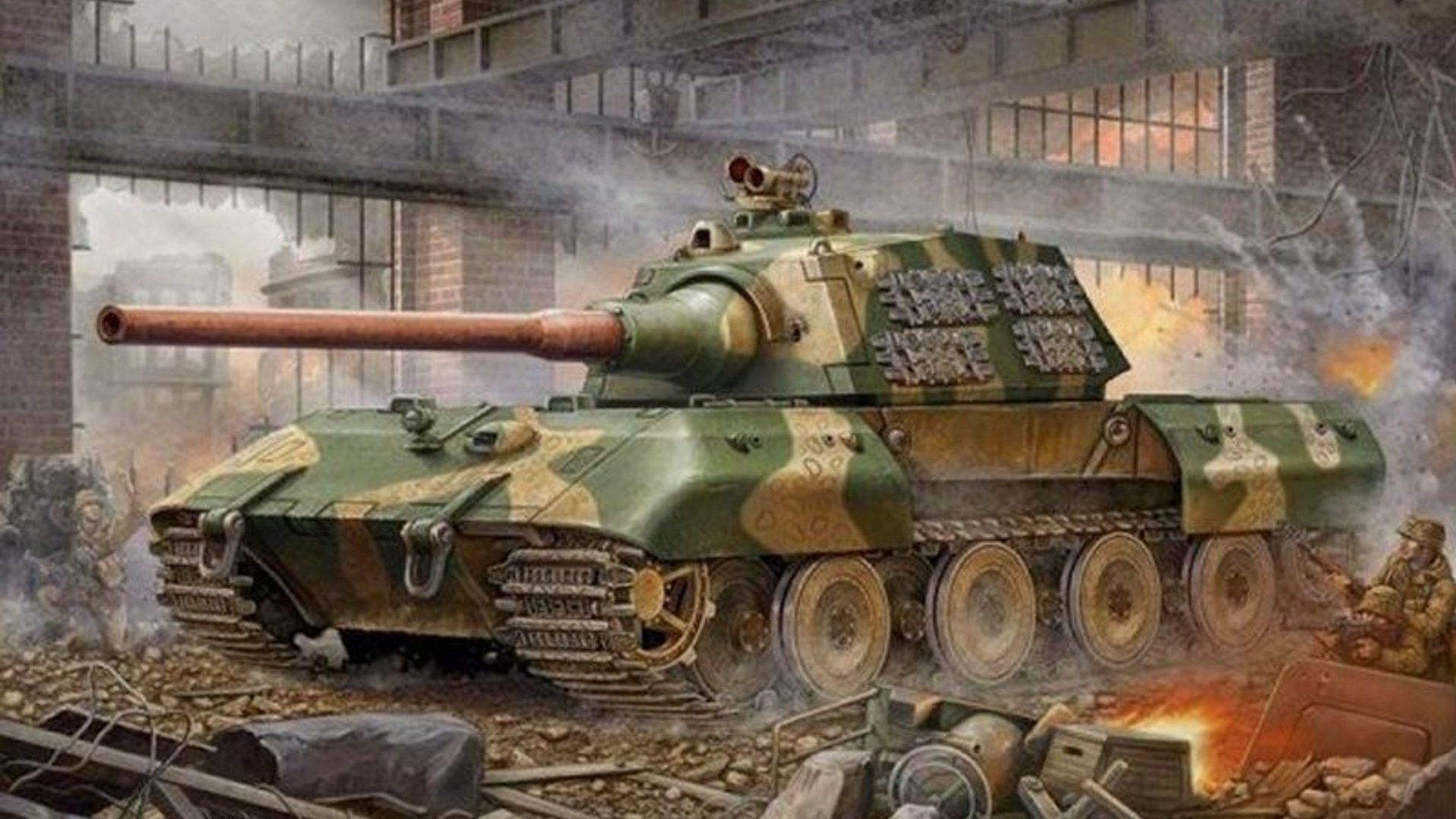 Panzerkampfwagen e 100 wallpaper free wide hd wallpaper art of nearing the end of wwii germany maintained the belief that super tanks could reverse the wars outcome and help them emerge victorious altavistaventures Image collections