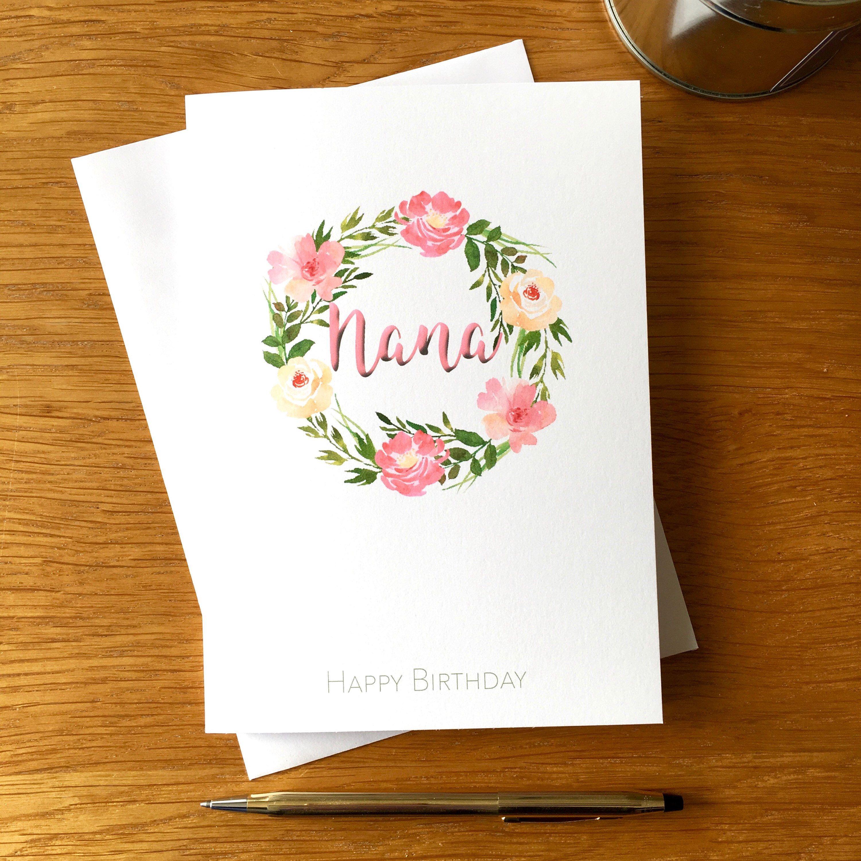 Grandmother Birthday Card Happy Birthday Grandma Birthday Etsy Grandma Birthday Card Birthday Cards For Mum Personalized Birthday Cards