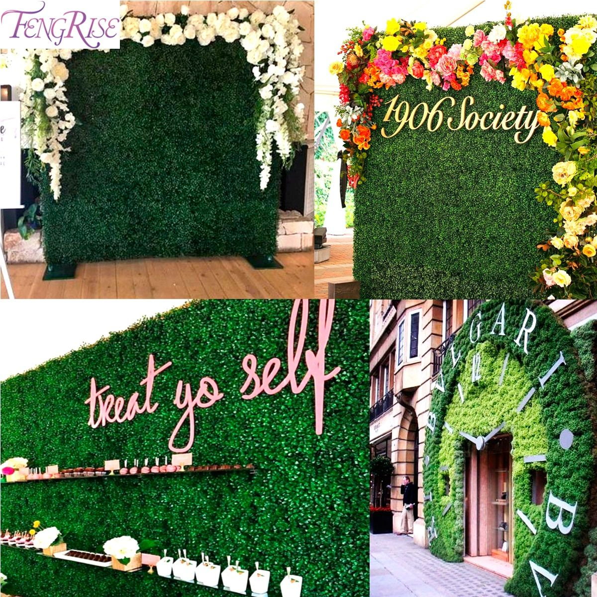 Fengrise 40x60cm Artificial Plant Fake Artificial Grass Decor Wedding Photography Backdrop Eucalyptus P Artificial Plants Grass Backdrops Artificial Grass Wall