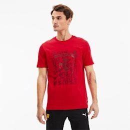 PUMA Scuderia Ferrari Big Shield Men's T-Shirt, Red, size 2X Large, Clothing