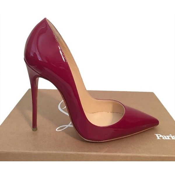 Pre-owned Christian Louboutin So Kate Patent Leather Eu 36 Us 5.5 - 6... (2.390 BRL) ❤ liked on Polyvore featuring shoes, pumps, cranberry, high heel shoes, patent shoes, patent leather pumps, patent leather shoes and grip shoes