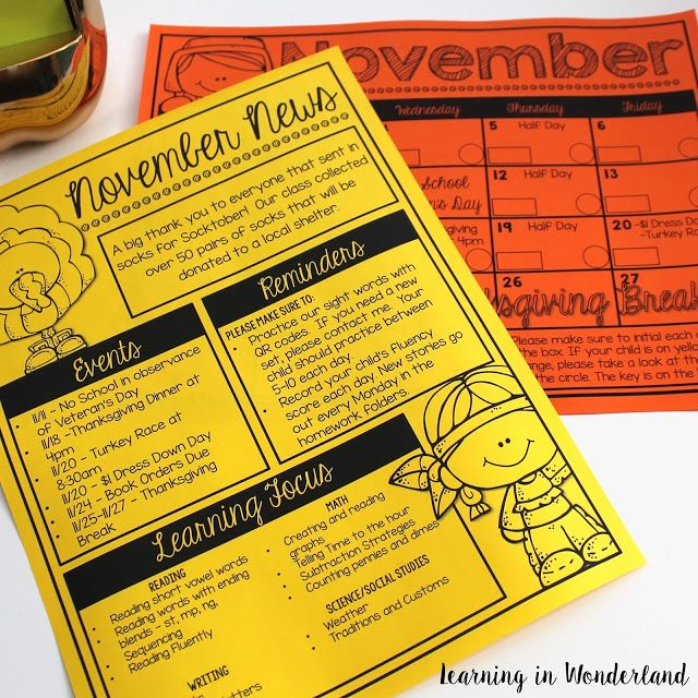 Five For Friday November    Event Calendar Create And Easy
