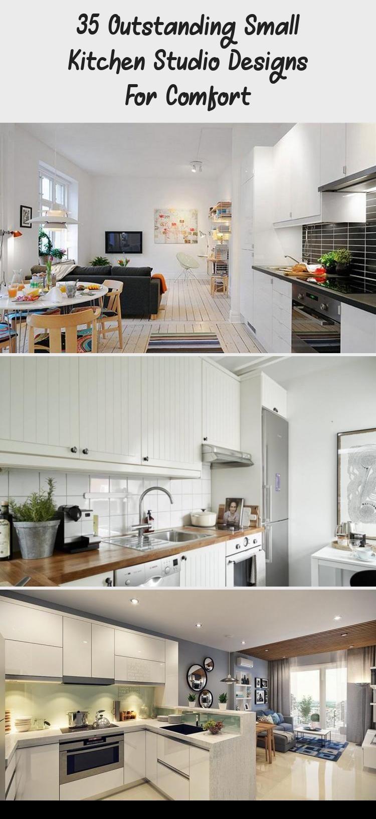35 outstanding small kitchen studio designs for comfort