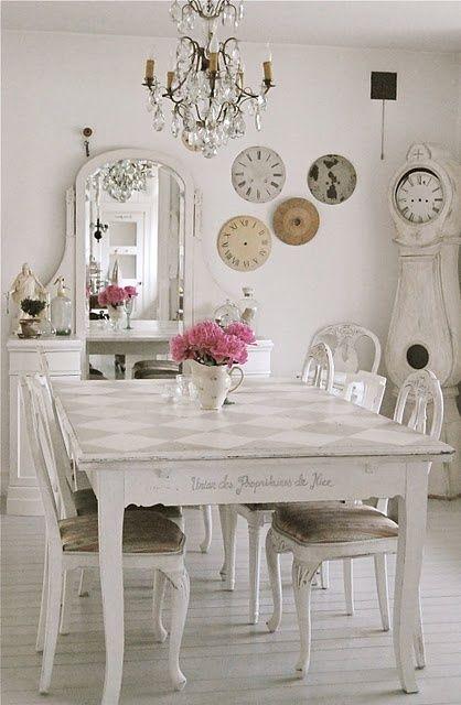 salle a manger en style shabby chic et proven al 23 id es. Black Bedroom Furniture Sets. Home Design Ideas