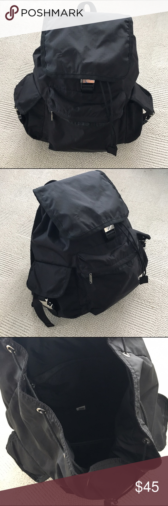 9144ad6c0 LeSportsac Voyager backpack Authentic LeSportsac black nylon backpack.  Super light weight and great as a