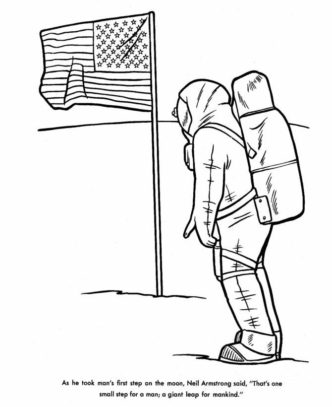 Neil Armstrong Coloring Sheet Page 217 Best Coloring Sheet For