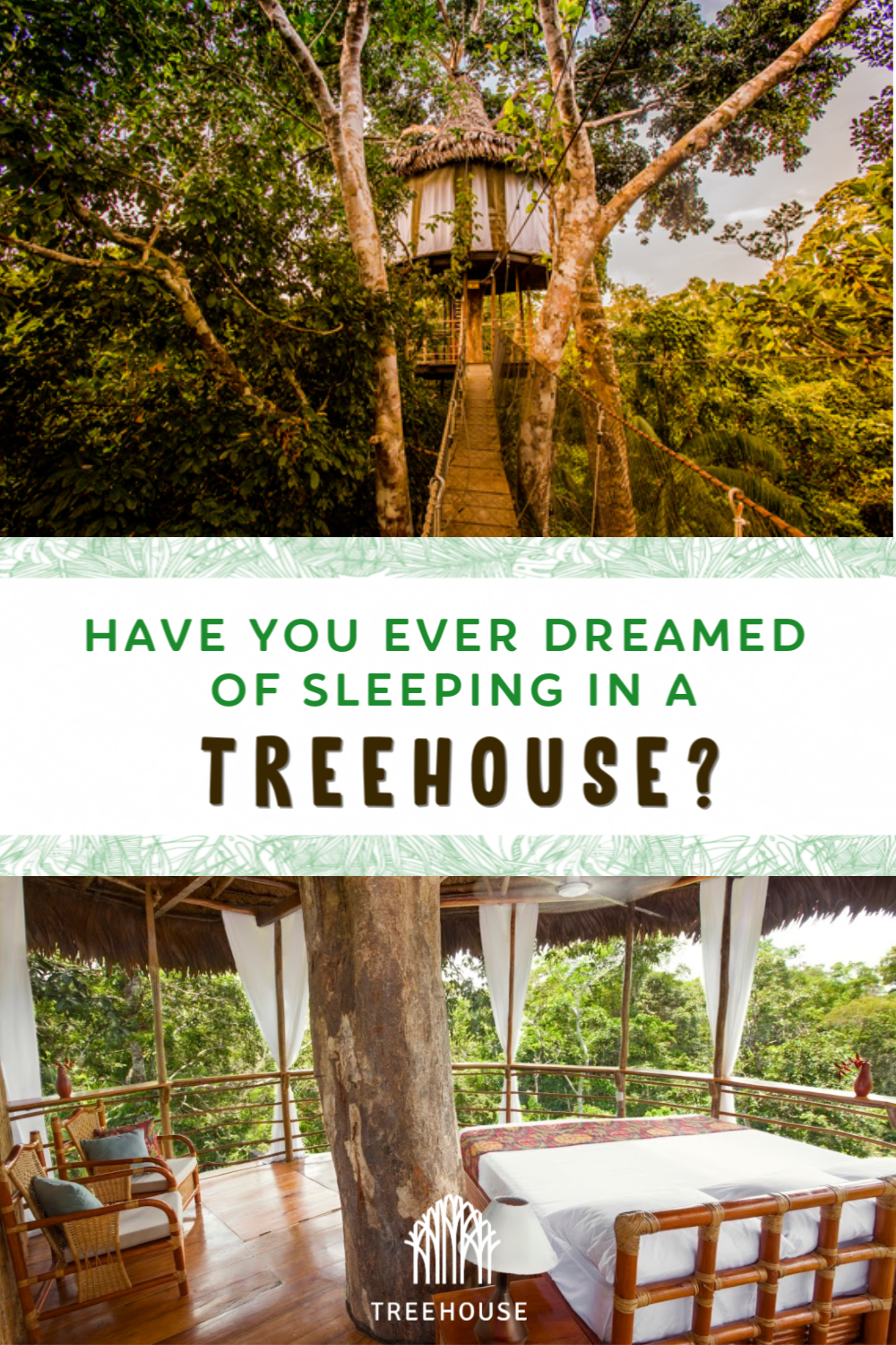 Discover this all inclusive lodge in the middle of the peruvian Amazon.    #treehouse #dream #travel #wanderlust #amazon