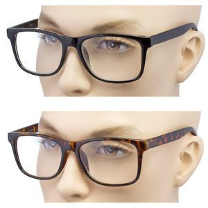 e764c1ab85a Large Oversized ROUND READING Glasses Horn Clear Lens Thin Frame Nerd  Glasses Tortoise and Black