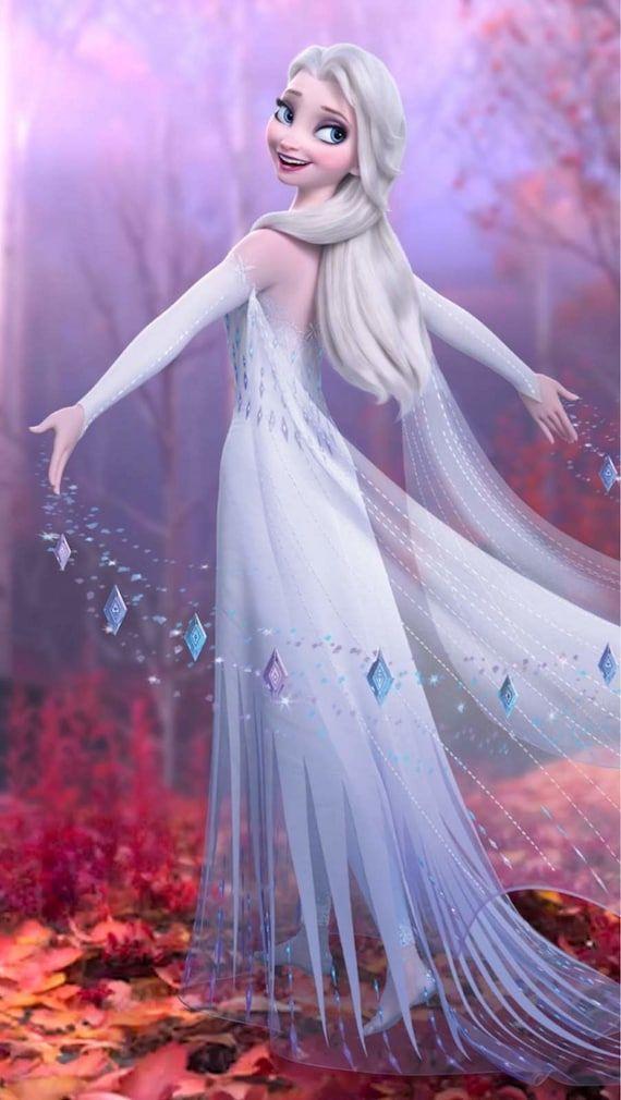 Frozen 2 Inspired Wreath, Elsa Wreath, Disney Inspired Wreath, Summer Wreath, Winter Wreath, Roses,