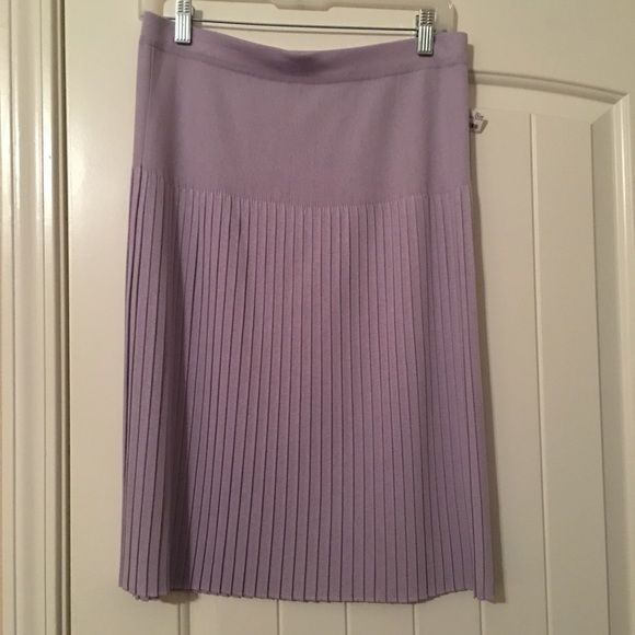 Lavender skirt EUC Lavender pleated sweater skirt. Size Large, would fit 12/14. No holes, stains, etc Skirts