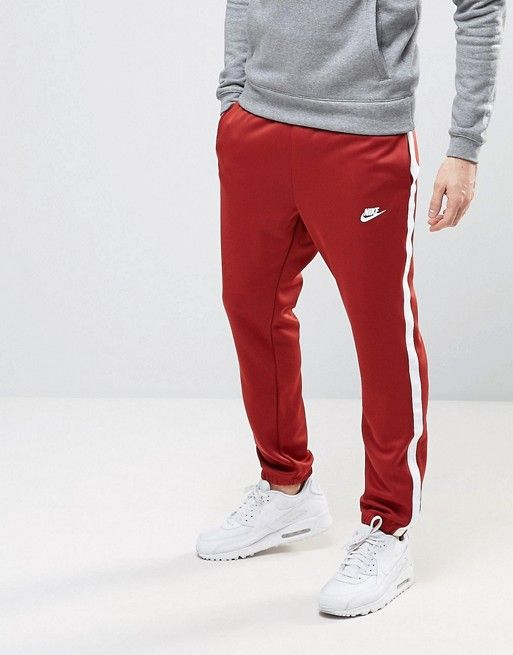 72085af09c6 Nike Tribute Joggers In Red 678637-675 | Gear | Mens sweatpants ...