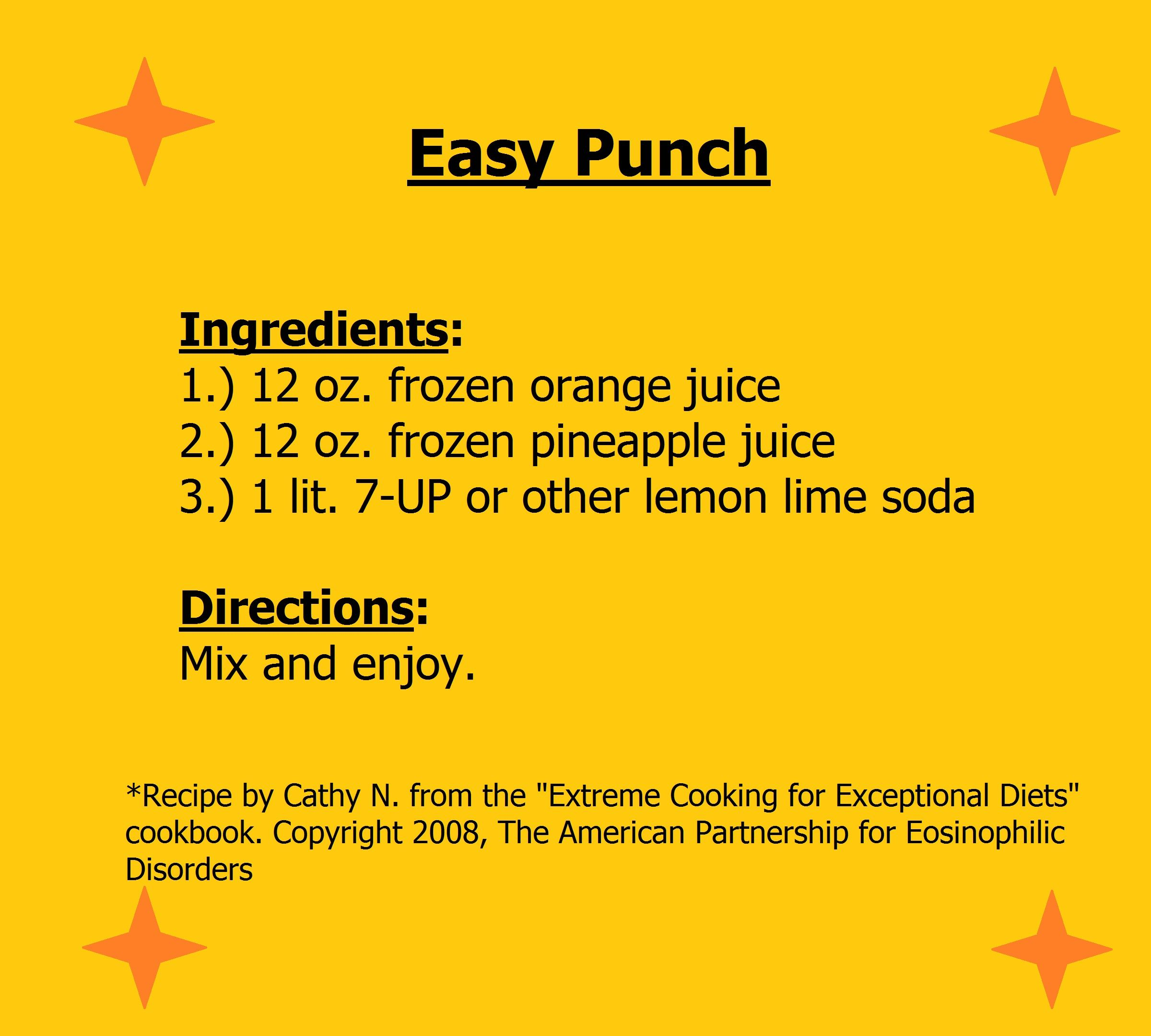 An Easy Punch Recipe For The Holidays. Please Review All