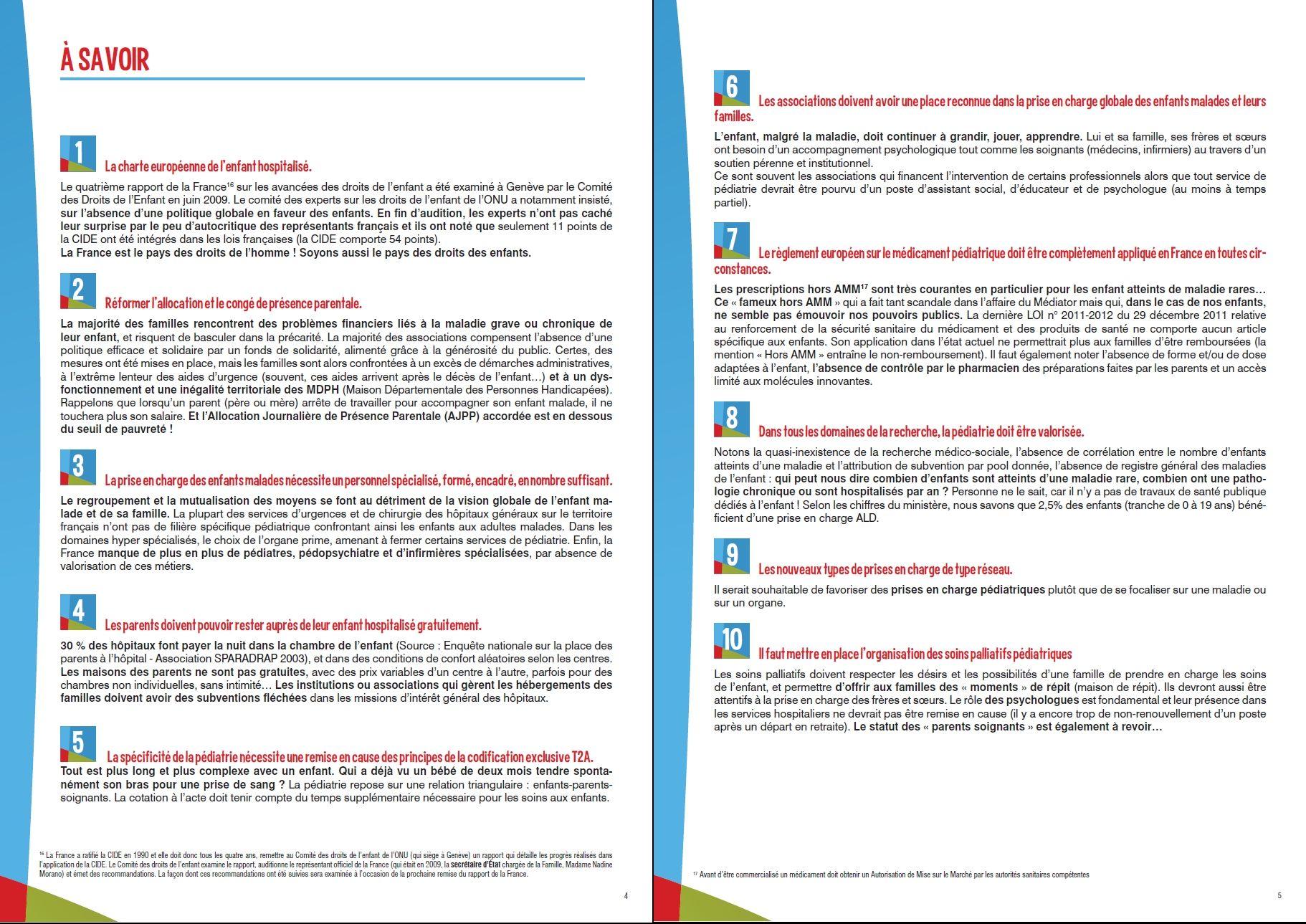 Droitsenfantsmalades Les 10 Propositions Du Manifeste Des