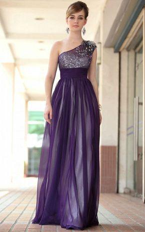 4cb7afa0a vestido largo fiesta en plata   morado (vestidos de gala de noche ...
