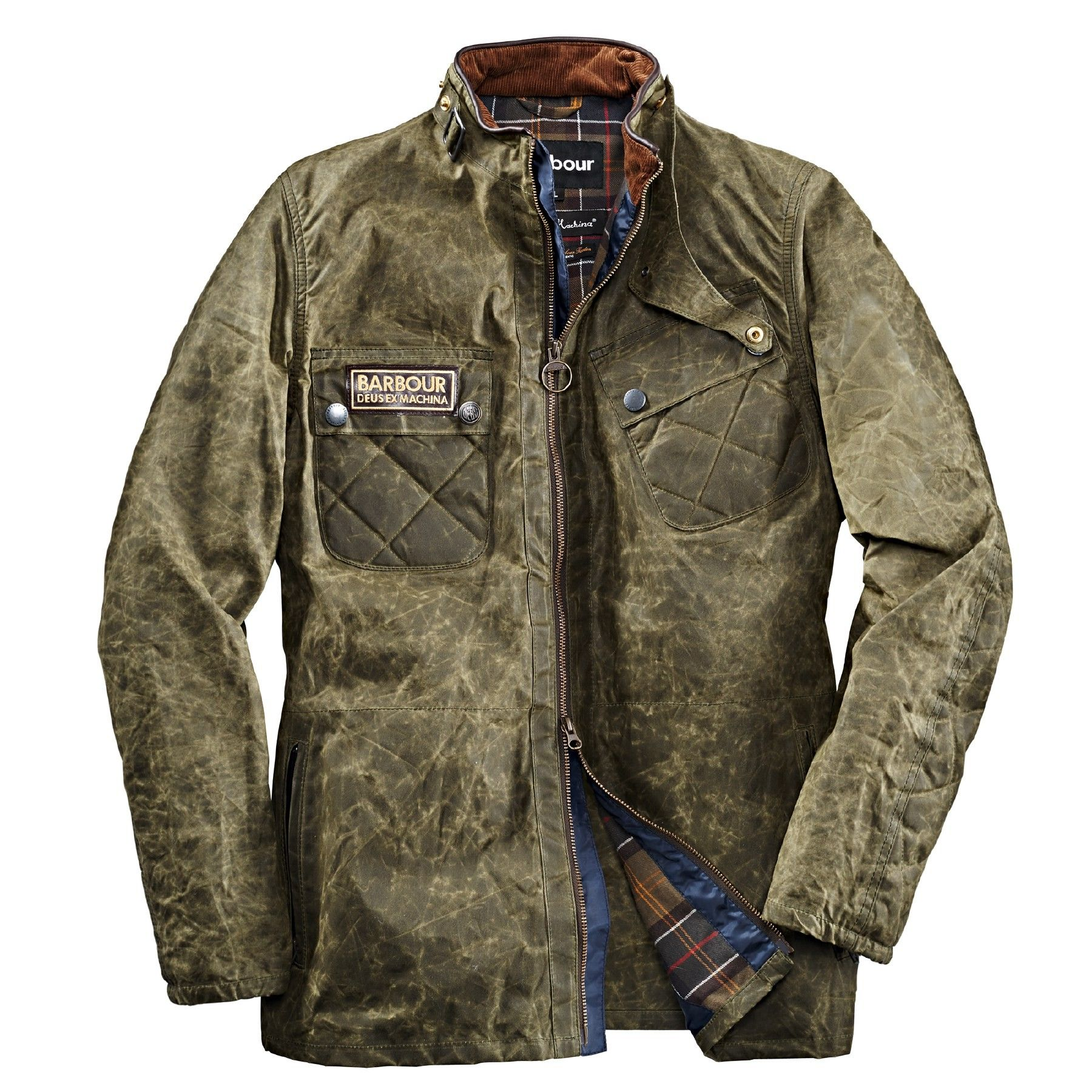 Coole Jacken Barbour X Deus Ex Machina Wachsjacke Devonport Barbour