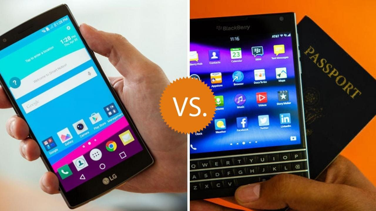 LG G4 vs. BLACKBERRY PASSPORT