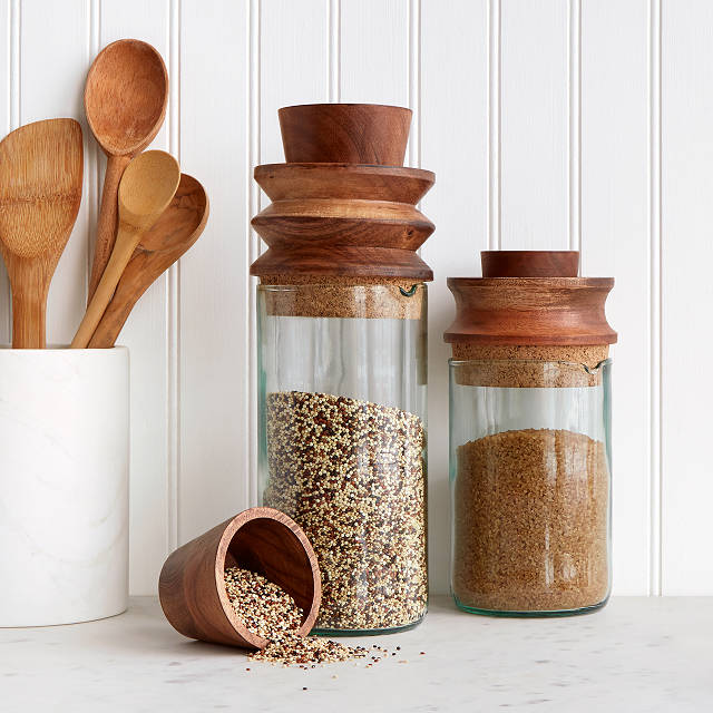 Measure And Store Canister Countertop Storage Containers