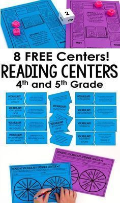 Reading Games and Centers for 4th and 5th Grade This post shares three types of reading games and centers that 4th and 5th graders will love. Also, sign up for the email list to get EIGHT free reading games featured in the post.This post shares three types of reading games and centers that 4th and 5th graders will love. Also, sign up for the email list to get EIGHT free readi...