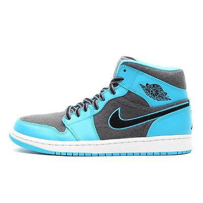 Nike Air Jordan 1 Mid Mens 633206-405 Gamma Blue Basketball Shoes ...