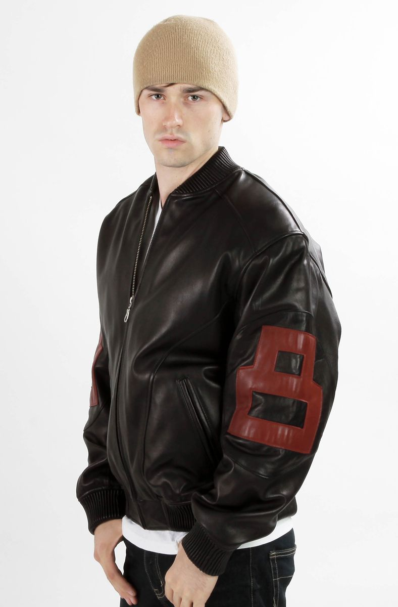 cad30fc77 Mens 8-Ball Bomber Supreme Leather Jacket | Mens Famous 8-Ball ...