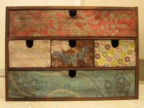 die besten 25 decoupage truhe ideen auf pinterest umgestaltete boxen zigarrenkiste handwerk. Black Bedroom Furniture Sets. Home Design Ideas