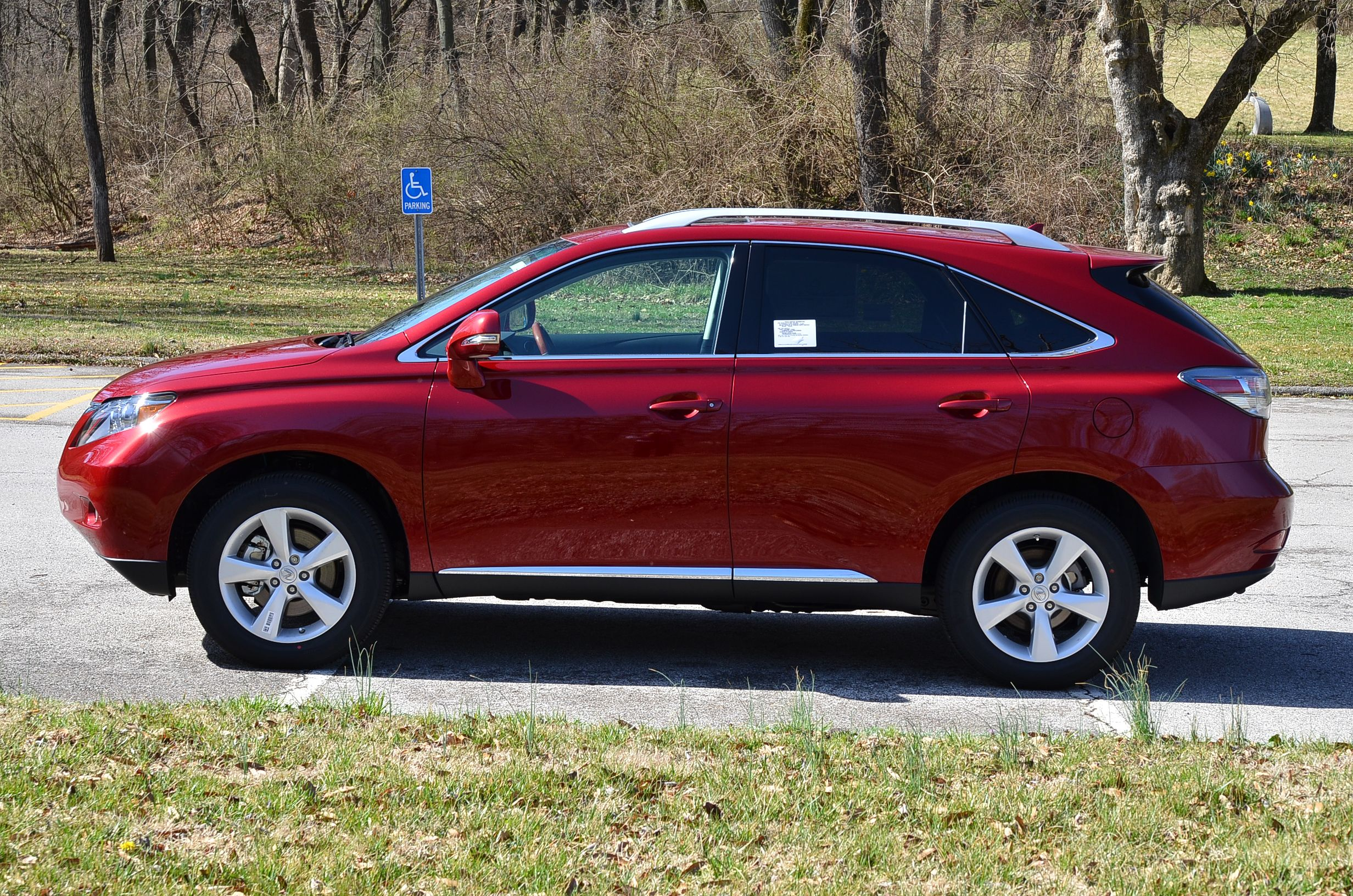 2012 Lexus Rx In Matador Red Mica With Black Leather