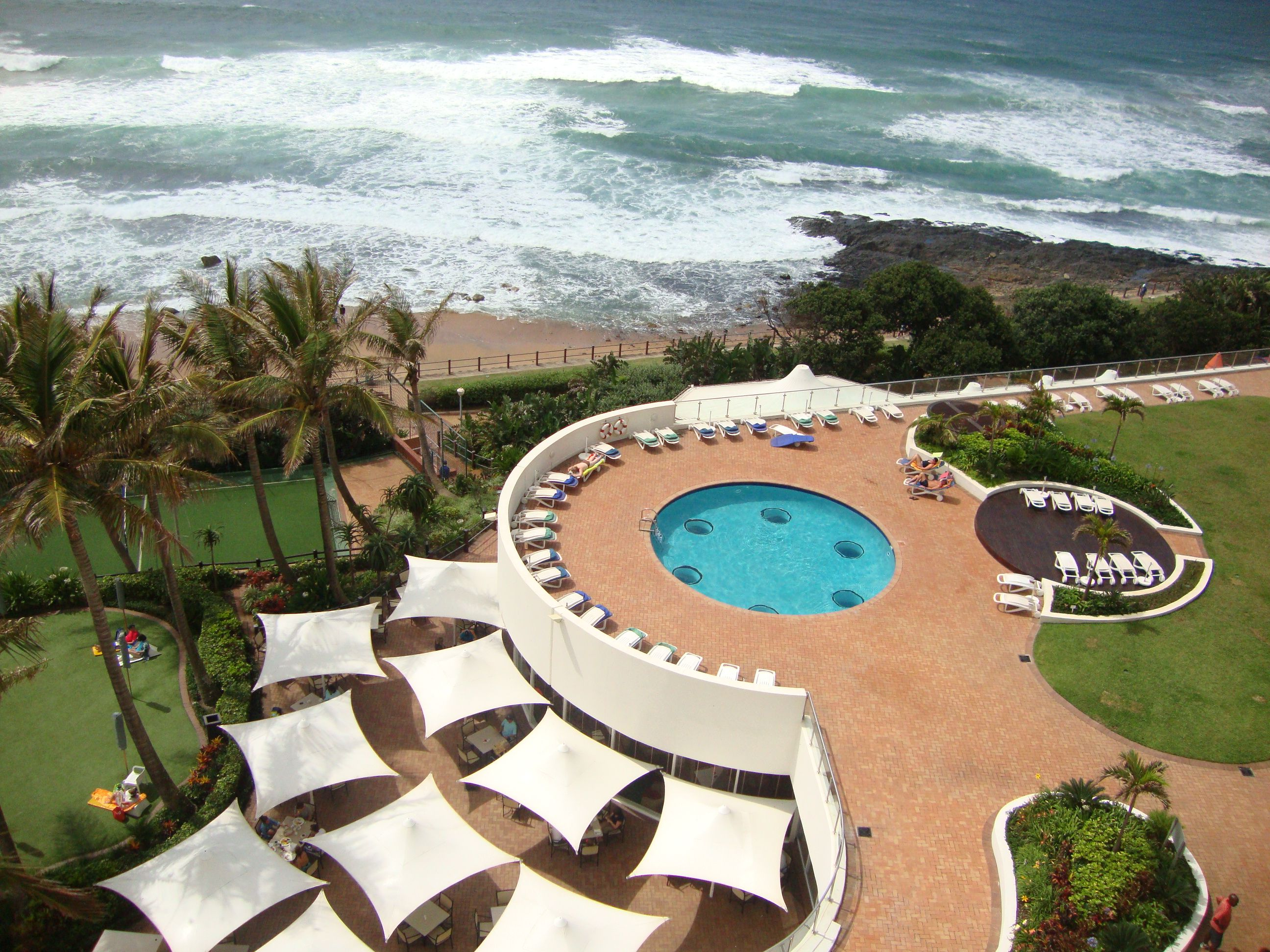 Umhlanga Sands in Umhlanga Rocks, South Africa. You don't get a much better location than this!  Great hotel for families.