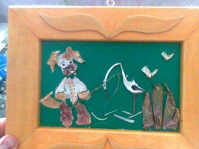 Детская картинка из рыбьих костей. | Детские картинки ...