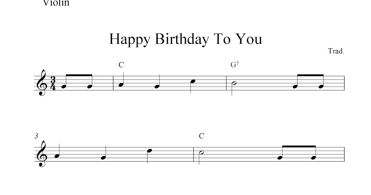 Happy Birthday To You Free Violin Sheet Music Notes Free Violin Sheet Music Sheet Music Notes Happy Birthday To You