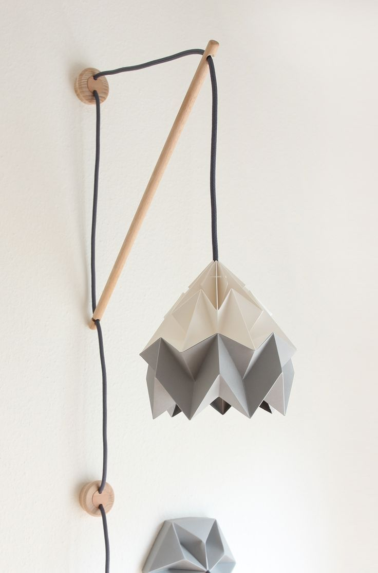 basil green pencil: Origami Lamp - Chestnut e Moth by Snowpuppe