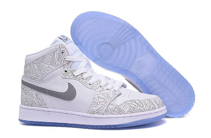 Authentic Air Jordan 1 I Retro High OG Laser White Metallic Silver 2015 Shoe