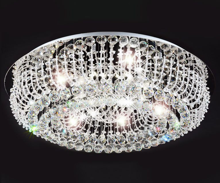 Deckenlampe wohnzimmer ~ Xl led luxus kristall wohnzimmer deckenleuchte lüster kronleuchter