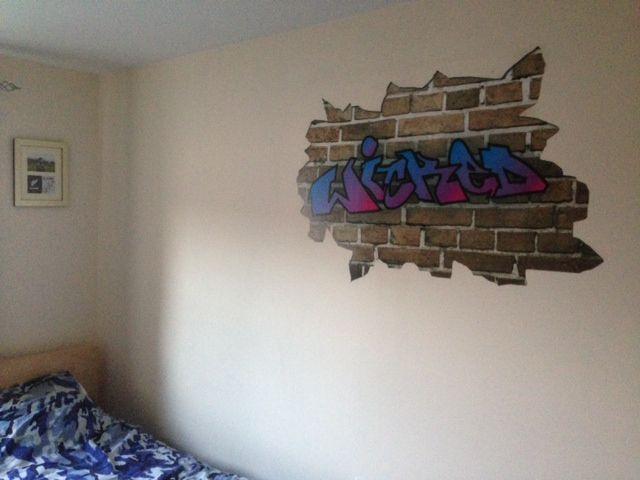 Personalised Graffiti style graphics perfect to customise a bedroom. & Personalised Graffiti style graphics perfect to customise a bedroom ...