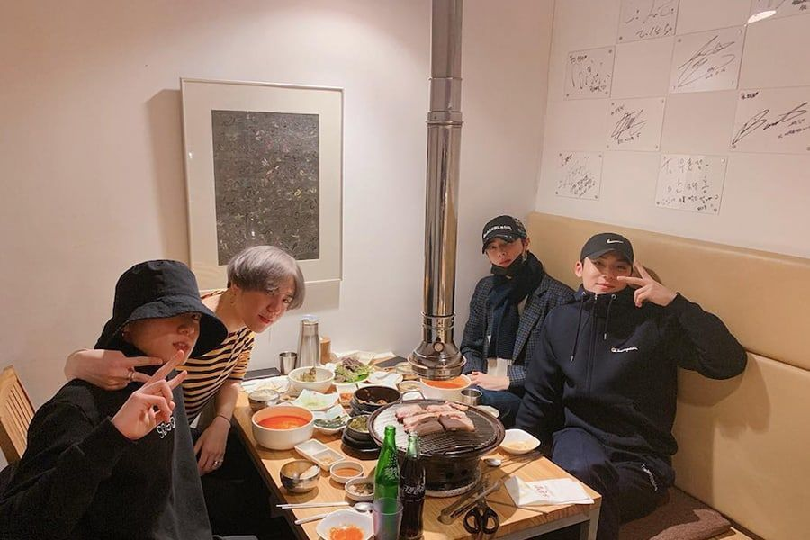 Mingyu comparte fotos de un divertido encuentro con Jungkook, Yugyeom y Cha Eun Woo