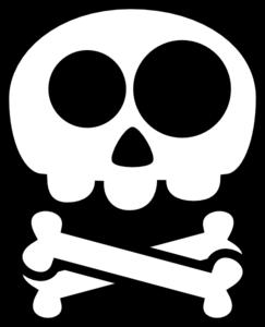 Cute Skull And Crossbones Clip Art Clip Art Art Skull And Crossbones