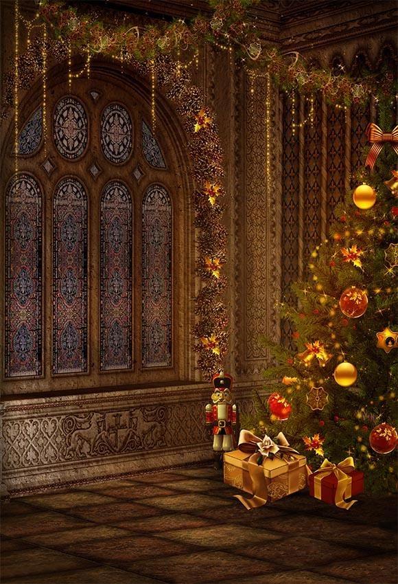 Christmas Tree Gift Room Backdrop For Photo G 023 Photo Backdrop Christmas Christmas Backdrops Christmas Photography Backdrops