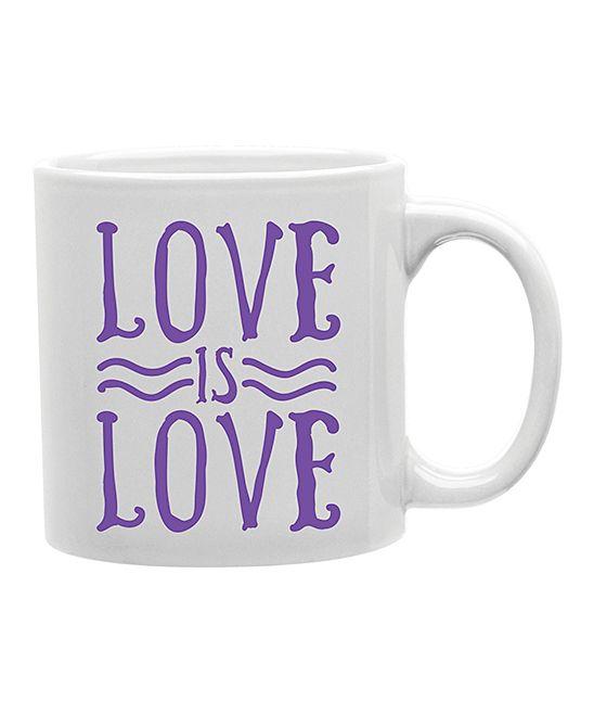 Purple 'Love Is Love' Mug