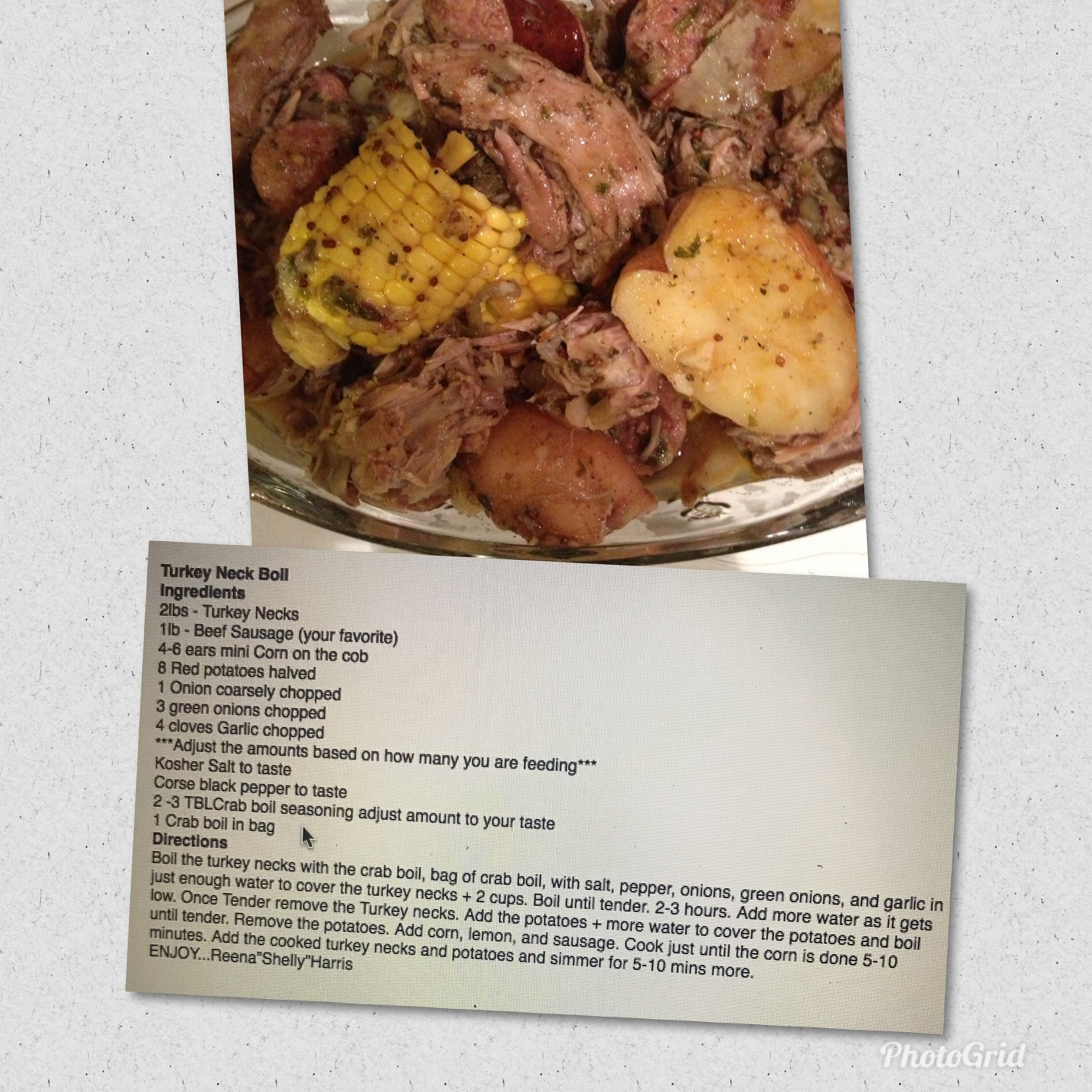 Turkey Neck Boil With Recipe