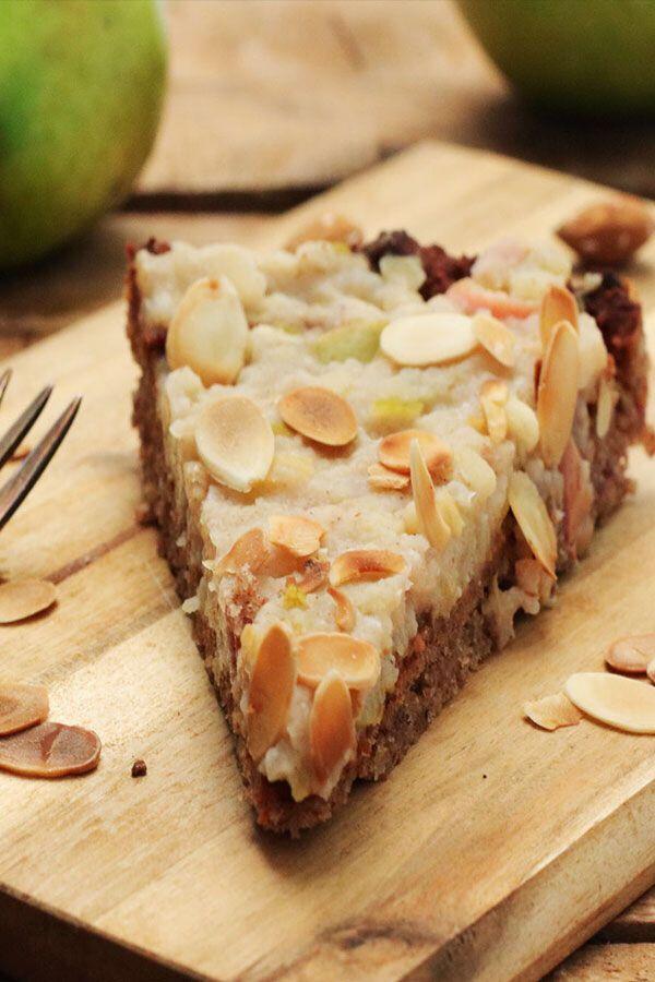 Zuckerfreier Apfelkuchen mit Birne und Mandeln - Clean Eating und glutenfrei - Foodrevers