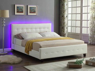 Ebern Designs Causglen LED Upholstered Platform Bed