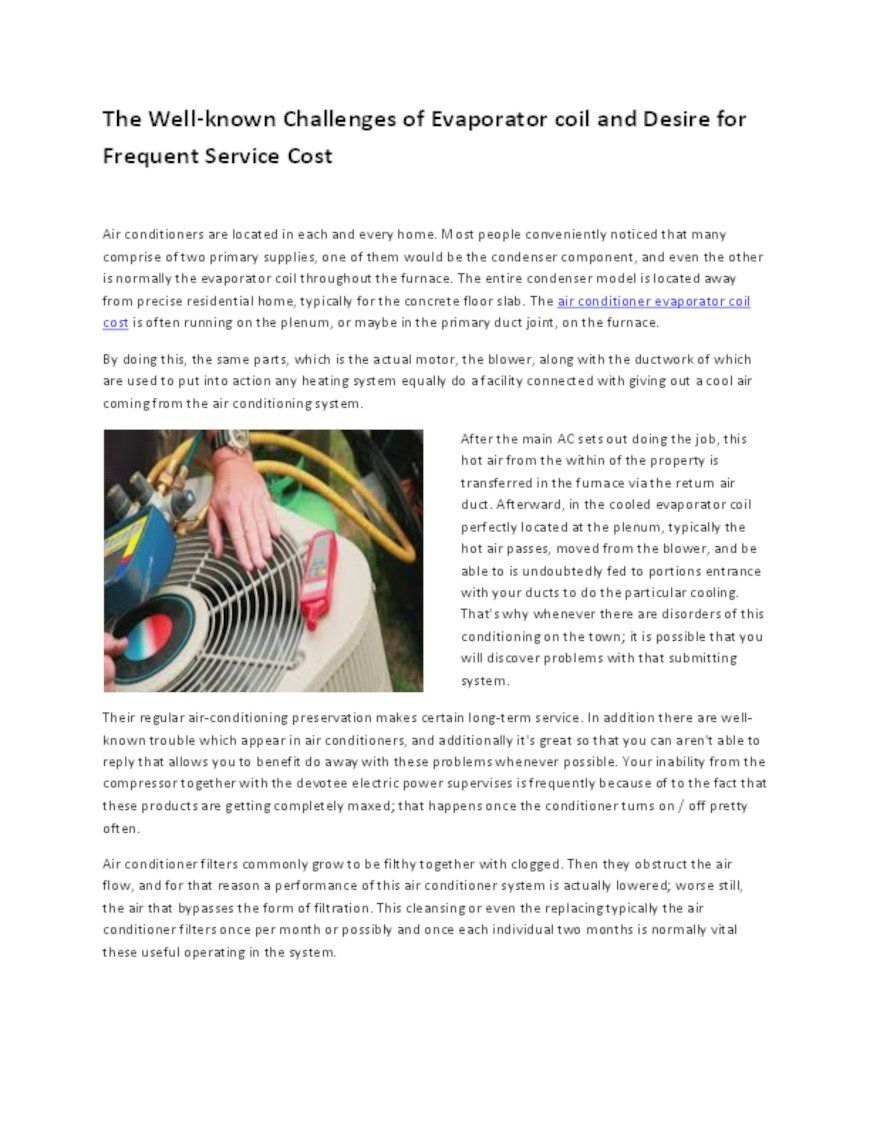 Pin on Evaporator Coil Cost