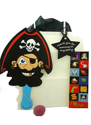 Pre-Filled Pirate Party Bags. Ideal to hand out at the end of a children's party.  Great for a pirate themed party.